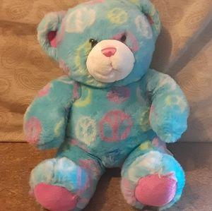 "Build•A•Bear Plush 15"" Peace Sign Bear - VGC"